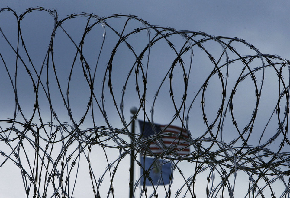 A security fence at the Joseph Harp Correctional Center in Lexington, OK., PHOTO BY SARAH PHIPPS, THE OKLAHOMAN ARCHIVES <strong>SARAH PHIPPS</strong>