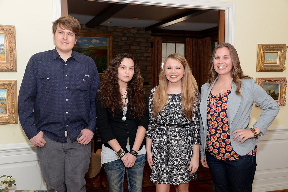 Photo -  Alex Myers, Alexa Lihyaui, Samantha Waters, Larissa Balzer. Photo by David Faytinger, for The Oklahoman