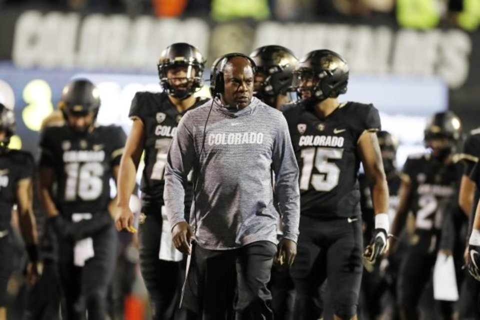 Photo -  Colorado's Mel Tucker is one of five African-American head football coaches in the Pac-12. [AP Photo/David Zalubowski, File]