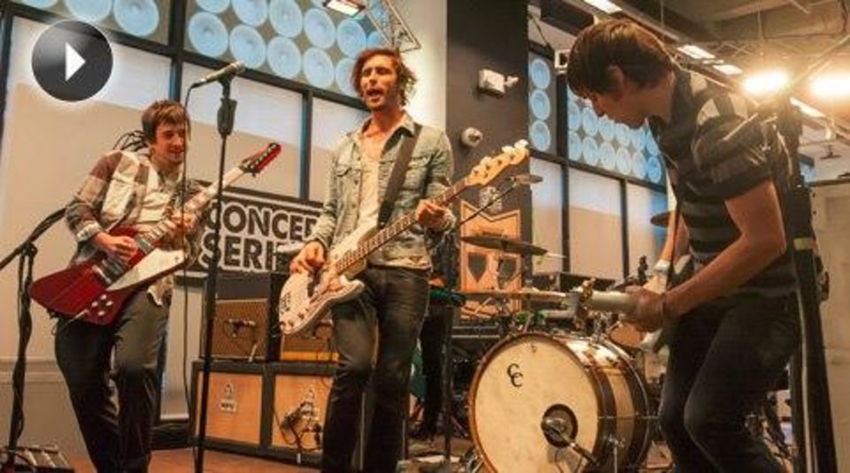 The All-American Rejects perform in the MLB Fan Cave.