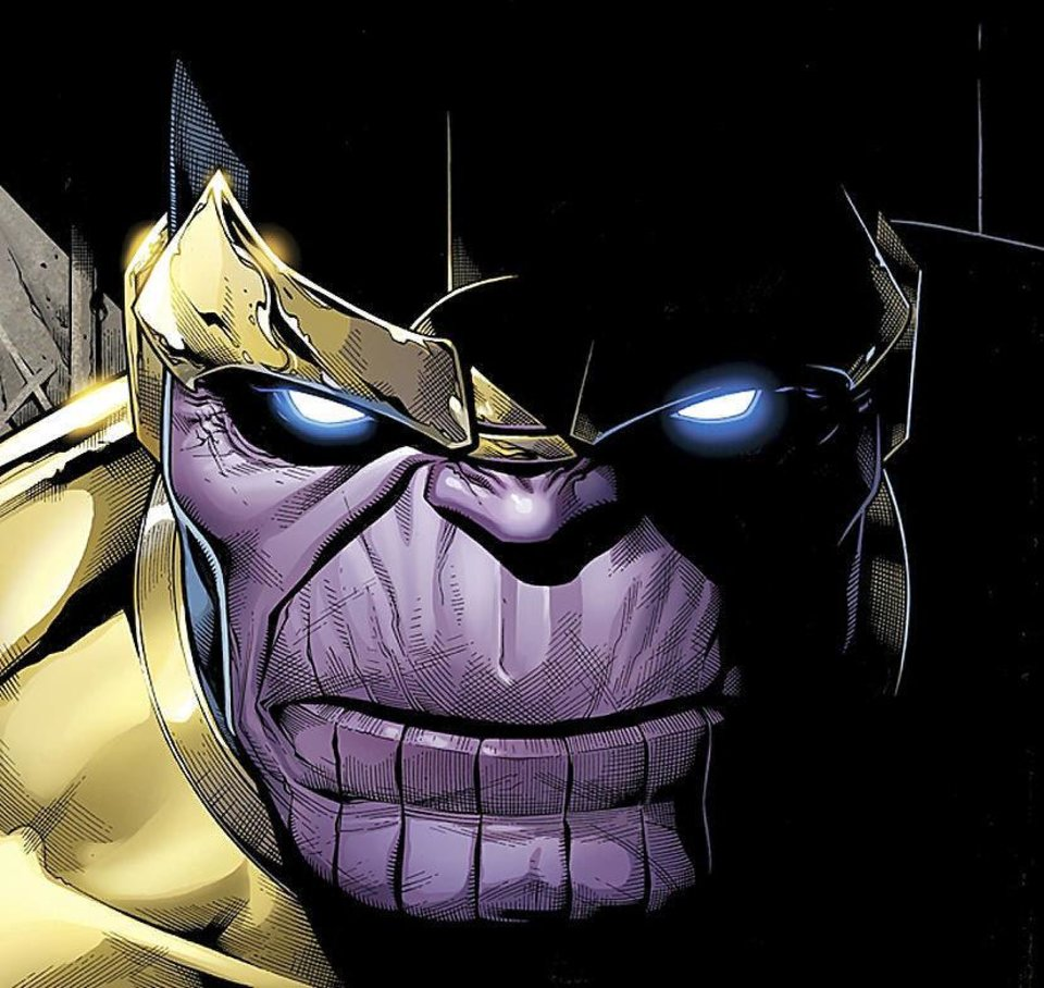"Thanos from ""Infinity."" Marvel Comics. <strong>IW</strong>"
