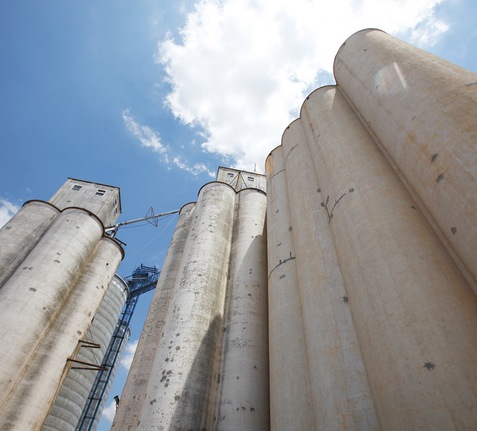 Cassidy Grain Co. in Frederick in Tillman County.  Photos by David McDaniel, The Oklahoman