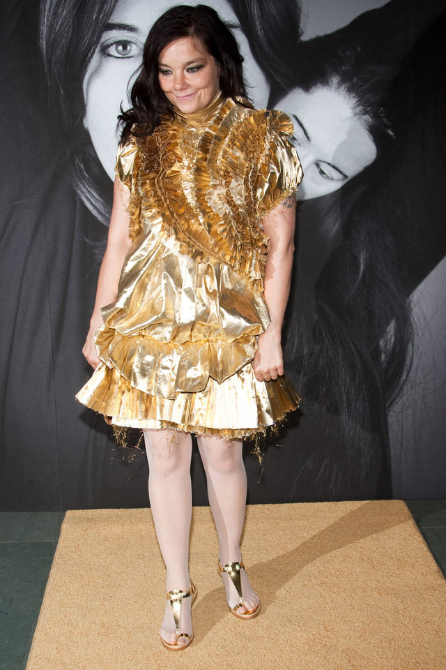 Photo -   FILE -- In a Tuesday, June 1, 2010 file photo, Bjork attends Marina Abramovic's