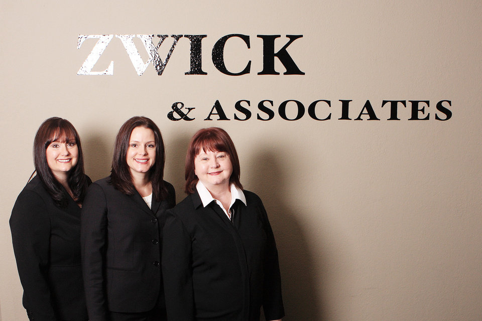 Photo - The management team at Zwick & Associates staffing firm includes family members, from left, April, Andra and Janee' Zwick. Andra owns the business, her sister heads operations, and their mother directs business development.  PHOTO PROVIDED   -  PROVIDED