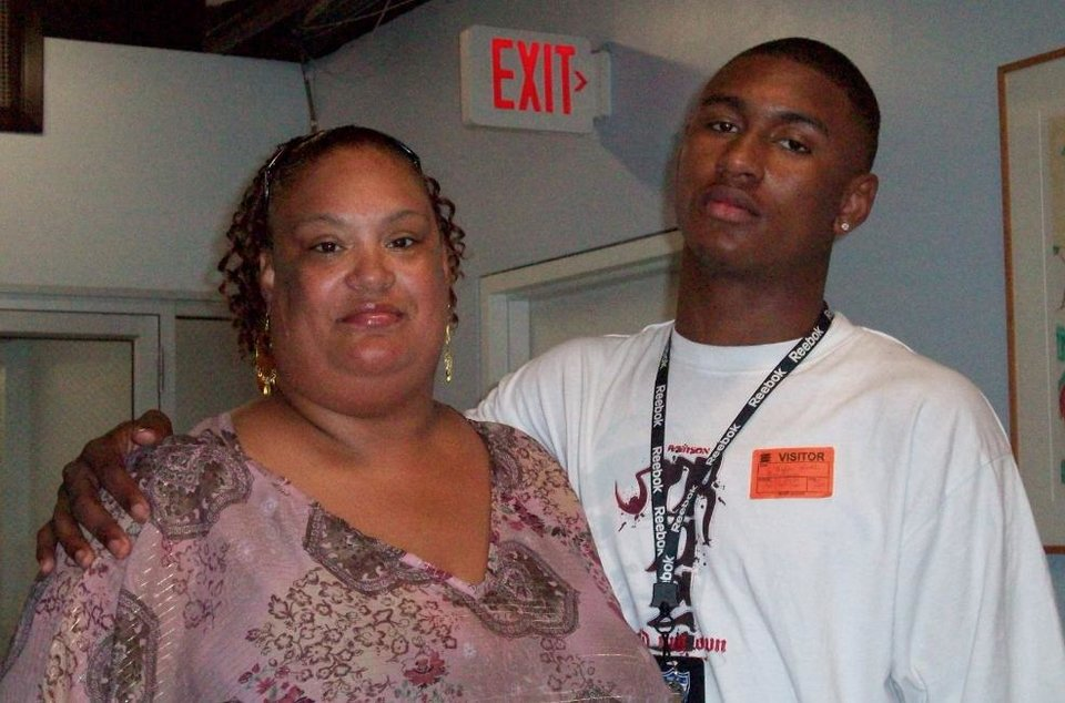 Photo - Samatha Nash, left, and her son Le'Bryan Nash, who plays basketball for Oklahoma State. PHOTO PROVIDED