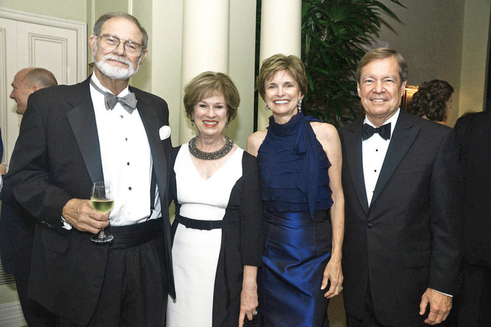 Photo - Mac and Carol Troy, Polly and Larry Nichols. Photo by David Faytinger, for The Oklahoman