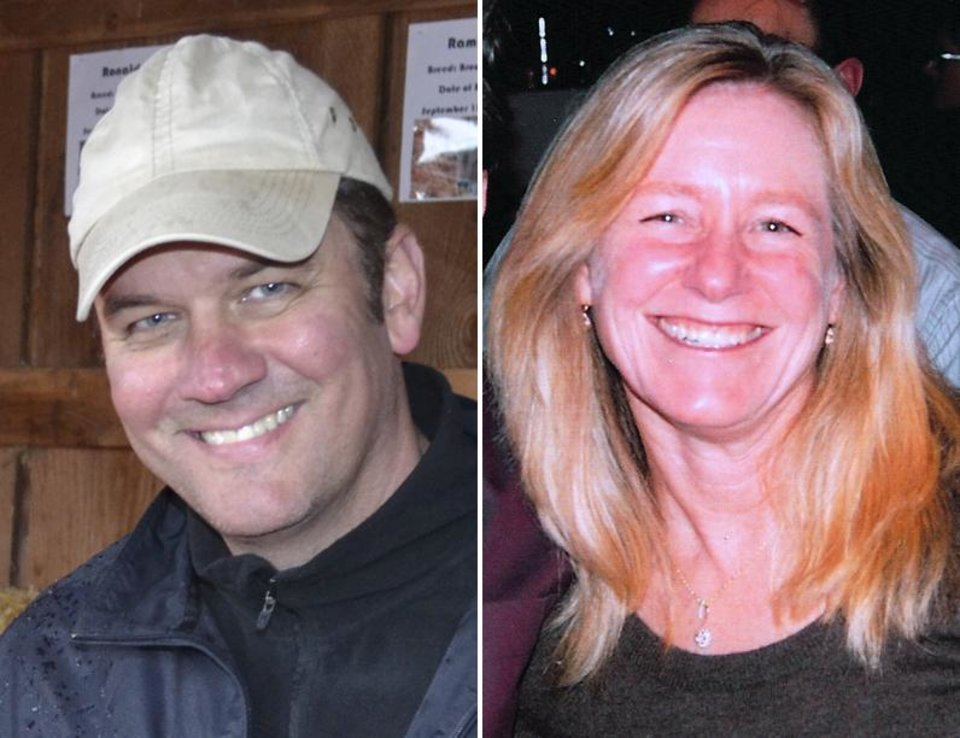 This combo made from undated photos released by the Clackamas County Sheriff\'s Dept. shows Oregon mall shooting victims shows Steven Mathew Forsyth, 45, of West Linn, Ore., left, and Cindy Ann Yuille, 54, of Portland, Ore. The gunman who killed two people and himself in a shooting rampage on Tuesday, Dec. 11, 2012 was 22 years old and used a stolen rifle from someone he knew, authorities said Wednesday. (AP Photo/Clackamas County Sheriff\'s Dept.)