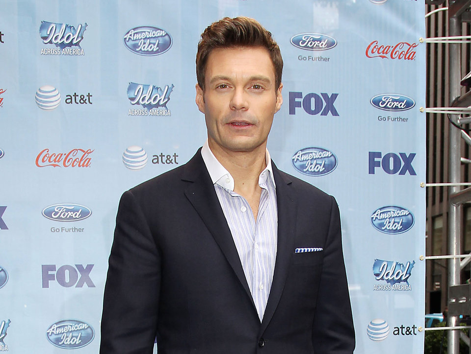 This image released by Starpix shows Ryan Seacrest during a news conference for
