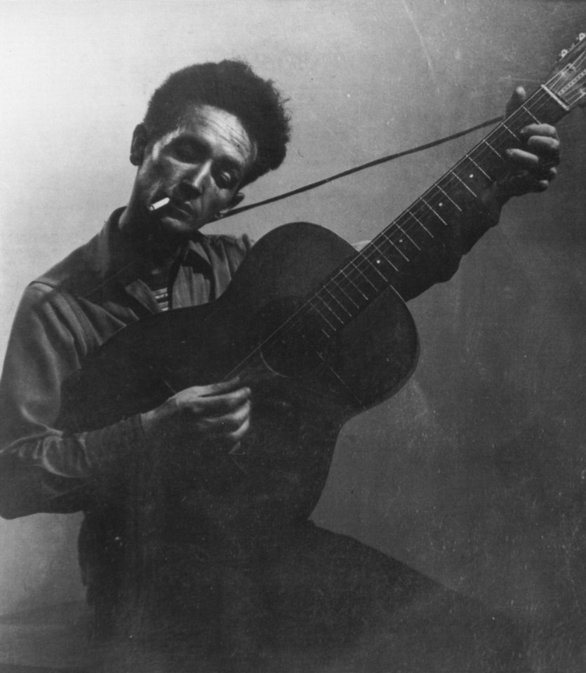 Photo - Woody Guthrie, singer.