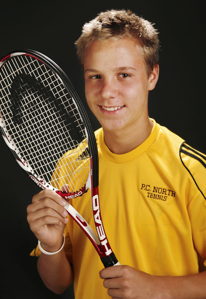 Photo - All-City tennis player of the year Chris Haworth from Putnam City North High School.  Photo by JIM BECKEL, THE OKLAHOMAN ORG XMIT: KOD
