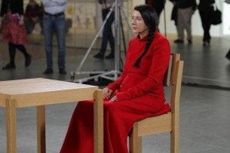 "Marina Abramovic in ""The Artist Is Present."" PHOTO PROVIDED <strong></strong>"