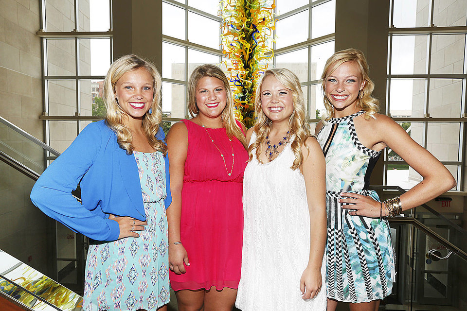 Photo - Taylor Ogle, Natalie Turner, Katie Cunningham, Berkley Petersen in Oklahoma City , Thursday May 30, 2013.Photo By Steve Gooch, The Oklahoman