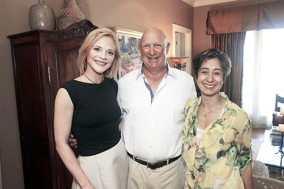 Photo - INTERSTATE 40: Meghan Spears, Brad Naifeh and Anu Bajaj at the party for jewelry designer Todd Reed at the home of Brad and Valerie Naifeh Tuesday, April 30, 2013. Photo by Doug Hoke, The Oklahoman