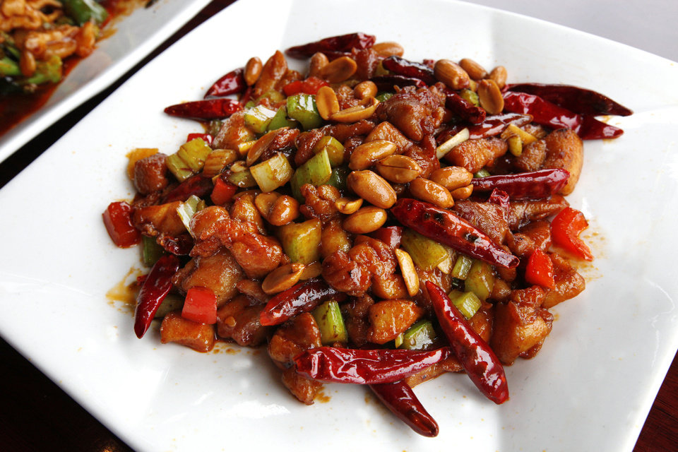 Kung Pao Chicken at Szechuan Bistro in Oklahoma City. <strong>PAUL B. SOUTHERLAND - THE OKLAHOMAN</strong>