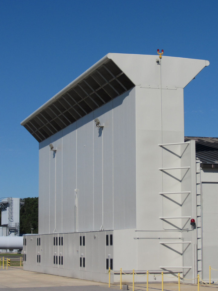 Photo - Swanda Brothers completed work on this aircraft engine noise suppressor hush house in Beaufort, S.C.   - PROVIDED