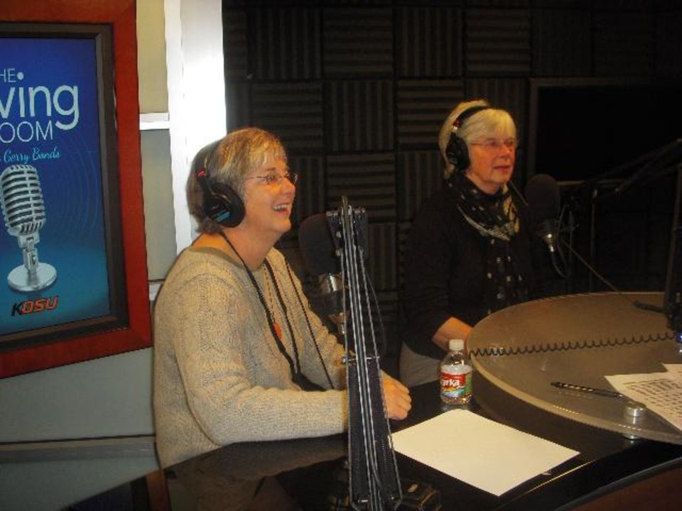 """Photo -  From left, Ann Denney and Pat Hoerth are shown as guests of """"The Living Room with Gerry Bonds."""" - Provided Photo"""