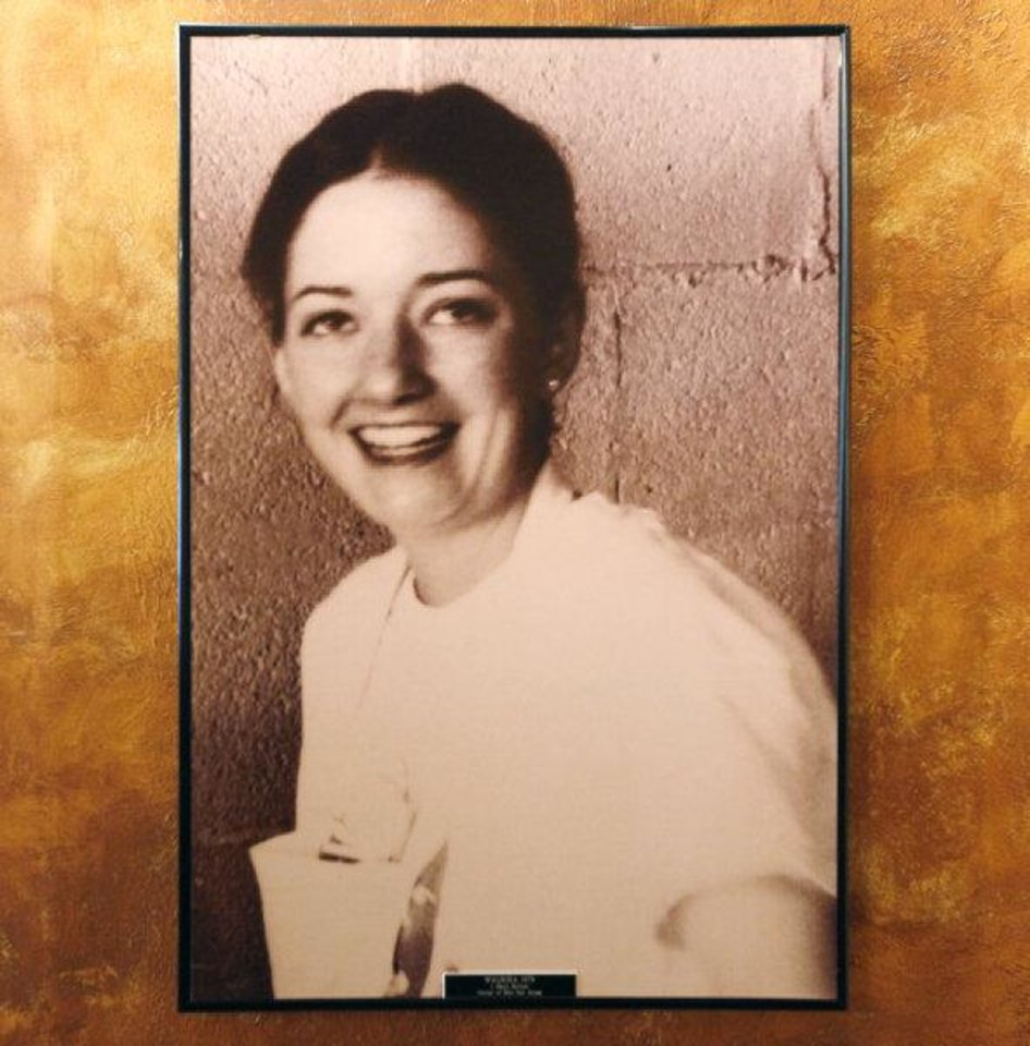 A 1978 photo of Jeri Mays, owner of Bill's Fish House in Waurika and the mother of Cafe 7 owner Jimmy Mays, on the wall at Cafe 7 in Oklahoma City, Friday, April 22, 2011. Photo by Nate Billings, The Oklahoman ORG XMIT: KOD