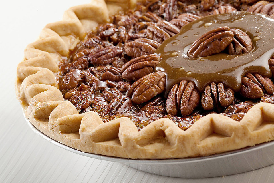 This Thanksgiving dessert is a Field's pecan pie with a caramel topping made of Oklahoma products <strong> - PROVIDED</strong>