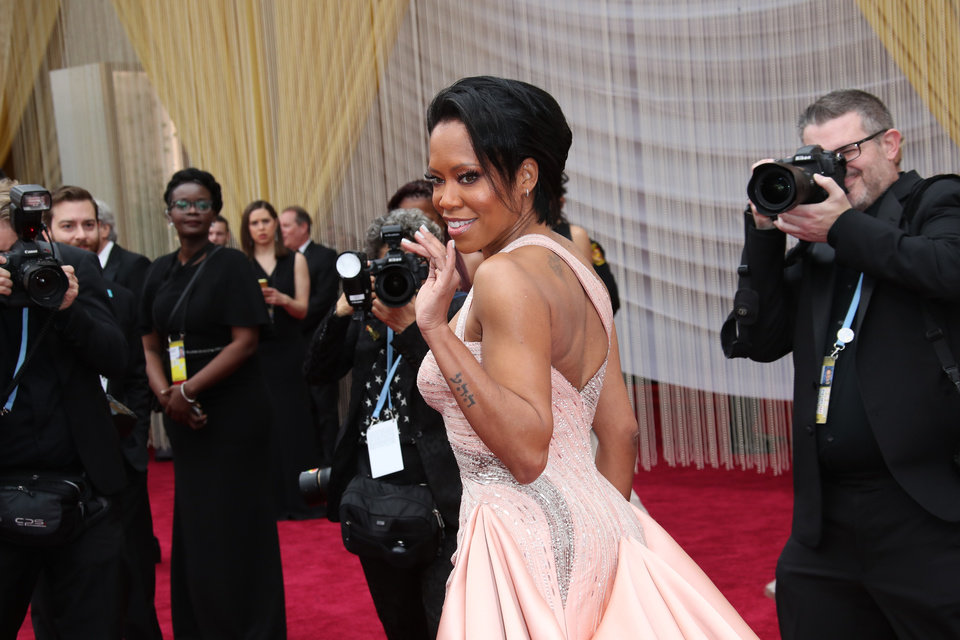 Photo - Feb 9, 2020; Los Angeles, CA, USA; Regina King arrives at the 92nd Academy Awards at Dolby Theatre. Mandatory Credit: Dan MacMedan-USA TODAY