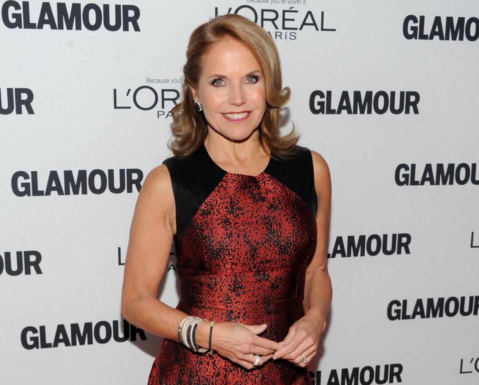 FILE - In this Monday, Nov. 11, 2013 file photo, Katie Couric attends the 23rd Annual Glamour Women of the Year Awards hosted by Glamour Magazine at Carnegie Hall in New York.  An ABC News executive who requested anonymity because talks aren't complete said Friday, Nov. 22, 2013  that the veteran news anchor has an opportunity at Yahoo! that is too good to pass up. (Photo by Evan Agostini/Invision/AP, File)