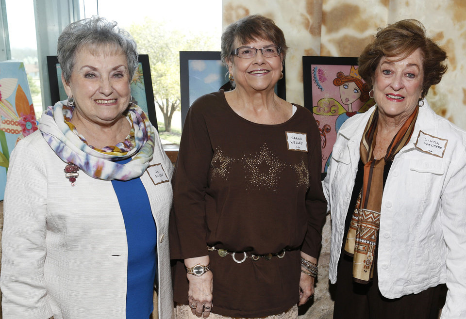 Jo Fudge, Sarah Kelley, Linda Walters.  PHOTO BY STEVE GOOCH, THE OKLAHOMAN