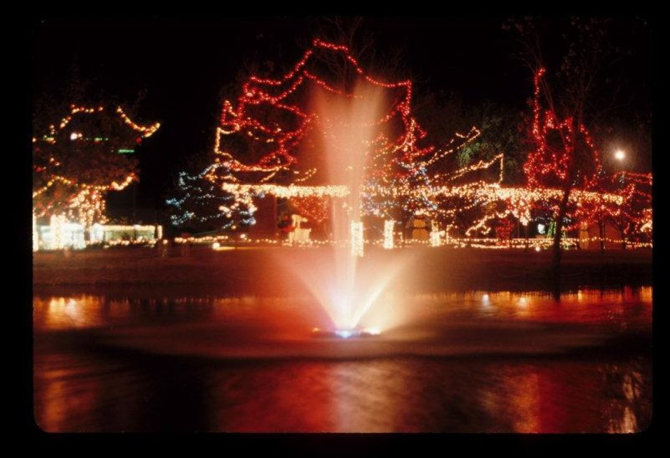 This fountain is part of Christmas in the Park in Elk City. Photo provided. <strong></strong>