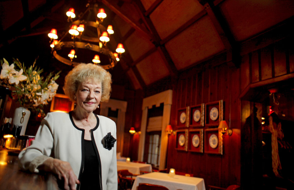 Owner Marian Thibault poses for a portrait inside The Haunted House restaurant in Oklahoma City, Thursday, October 22, 2009. Photo by Bryan Terry, The Oklahoman ORG XMIT: KOD