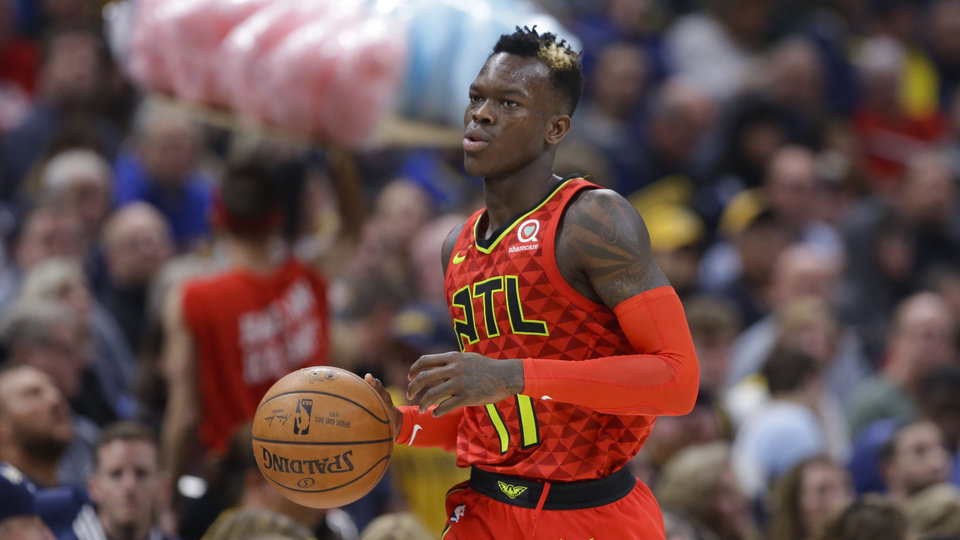 Photo -  Dennis Schroder averaged 19.4 points, 6.2 assists and 2.7 turnovers per game last season for the Atlanta Hawks.  [AP PHOTO]