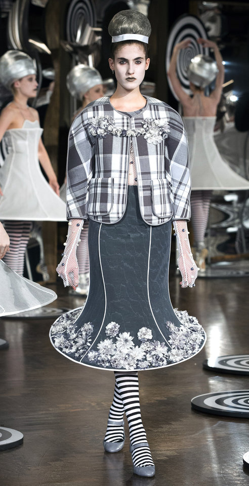 Photo -   The Thom Browne Spring 2013 collection is modeled during Fashion Week in New York, Monday, Sept. 10, 2012. (AP Photo/John Minchillo)