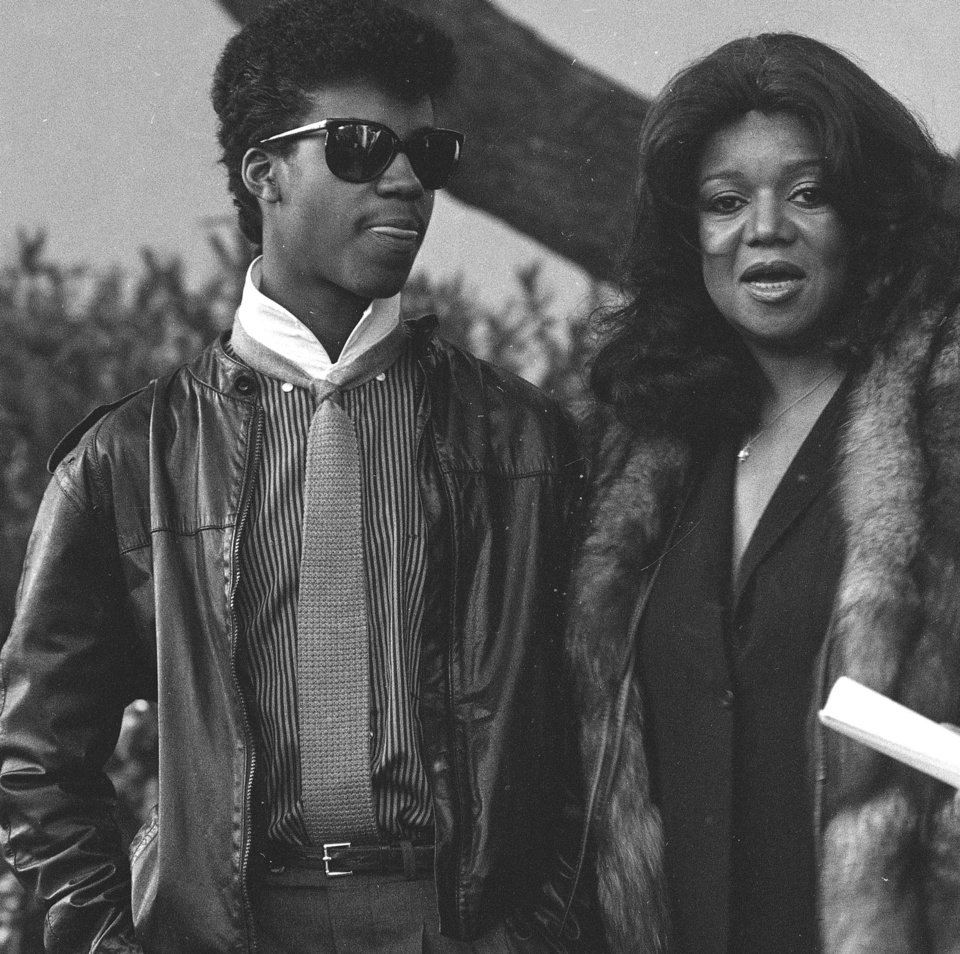 FILE - In this April 4, 1984 file photo, Marvin Gaye III escorts his mother Anna Gordy Gaye to the public visitation of the late Marvin Gaye Jr.'s body, at Forrest Lawn Memorial Park in Los Angeles. Gaye III, the son of the late singer, is suffering from kidney failure and is seeking a donated organ for transplant.  He announced earlier this week that he's been receiving dialysis for renal failure for three years and having trouble finding a suitable kidney for transplant. (AP Photo/Nick Ut, File)