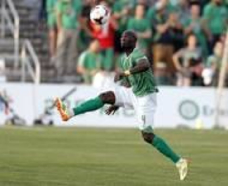 Photo -  Cyprian Hedrick earned honorable mention on this week's USL Pro Team of the Week. PHOTO BY SARAH PHIPPS, THE OKLAHOMAN