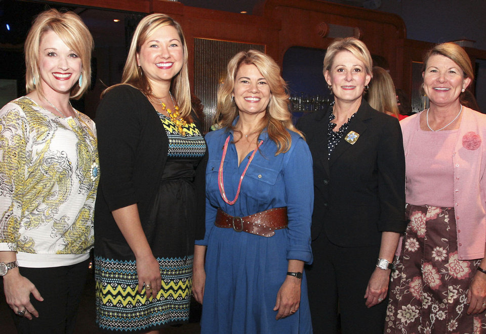 Becky Painter Robinson, Leslie Wilkerson, Lisa  Whelchel, Hilarie Blaney, Kathy Lippert.  PHOTOS BY DAVID FAYTINGER, FOR THE OKLAHOMAN