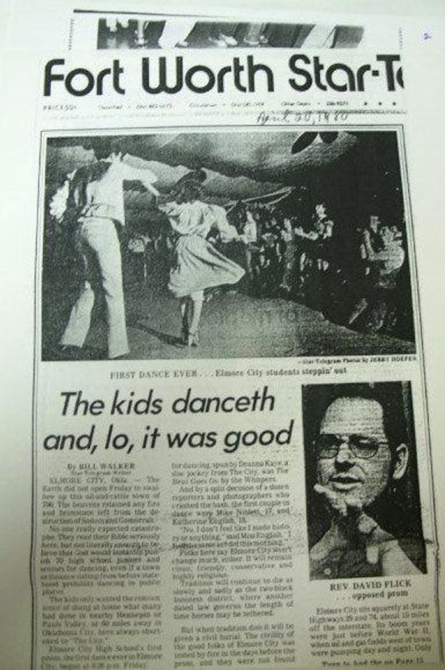Photo - A newspaper accounts the 1980 prom. PHOTO PROVIDED