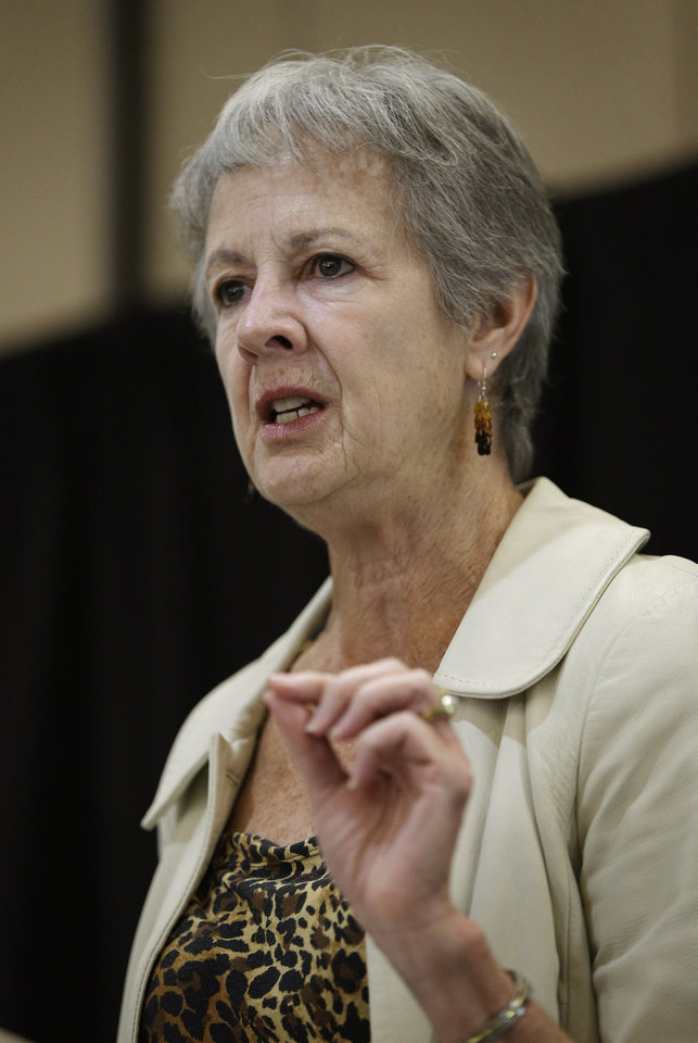 Photo - Assistant Secretary of the Interior Anne Castle speaks at The Business of Water conference Friday, Aug. 29, 2014, in Las Vegas. Castle spoke about water issues along the Colorado River system. (AP Photo/John Locher)