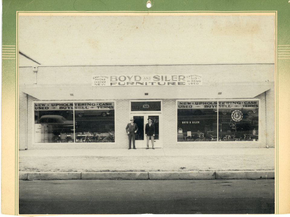 Photo - Boyd opened a furniture store following his return home to Oklahoma City.