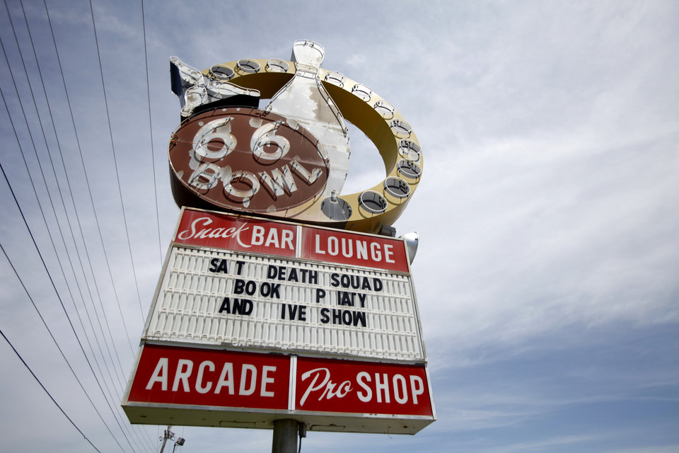 Photo - SIGN / SALE: The historic 66 Bowl has been sold to Spices of India food store  in Oklahoma City, Oklahoma June 3 , 2010. Photo by Steve Gooch, The Oklahoman ORG XMIT: KOD