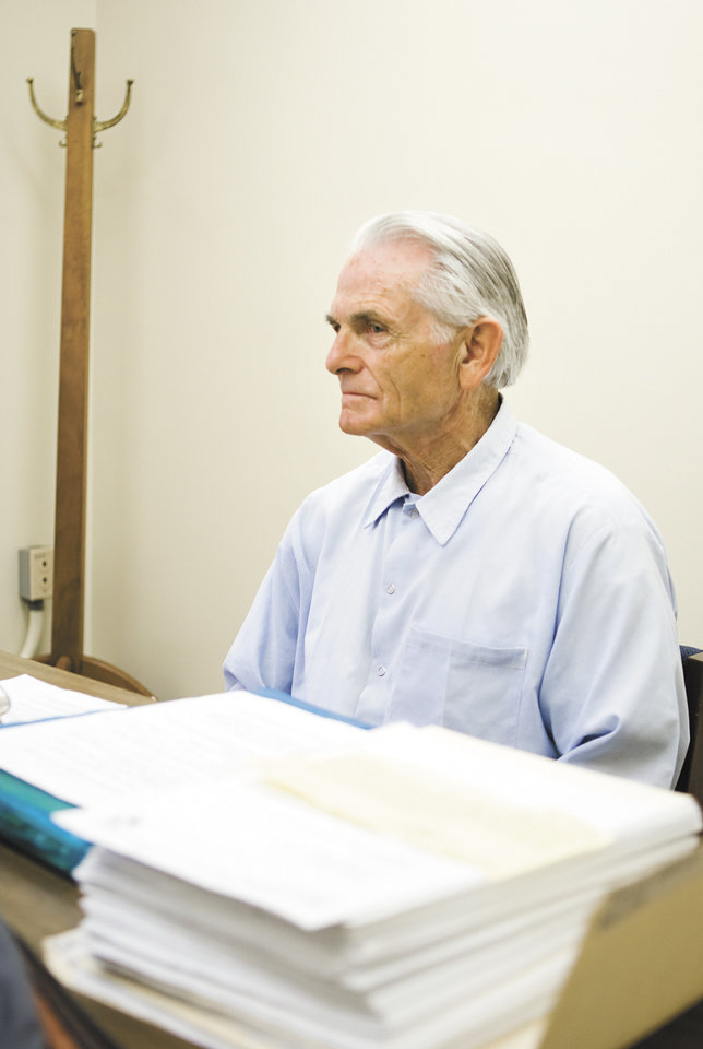 Bruce Davis, a former member of the Manson Family, waits moments before the start of his parole hearing at the California Mens Colony Thursday, Oct. 4, 2012 in San Luis Obispo, Calif. Davis, imprisoned for 40 years in a double murder engineered by Charles Manson, won a recommendation of parole Thursday in his 27th appearance before a parole board panel. (AP Photo/The Tribune (of San Luis Obispo), Joe Johnston) MAGS OUT