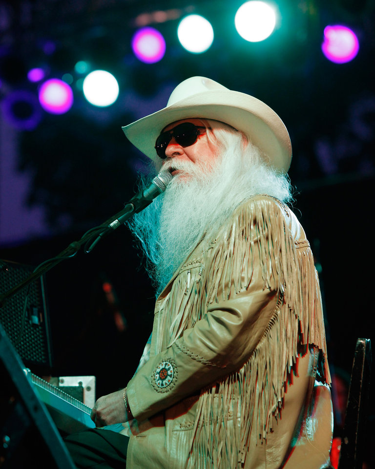 Photo -  Leon Russell performs at the 2011 Oklahoma State Fair. [Photo by Jim Beckel, The Oklahoman Archives]