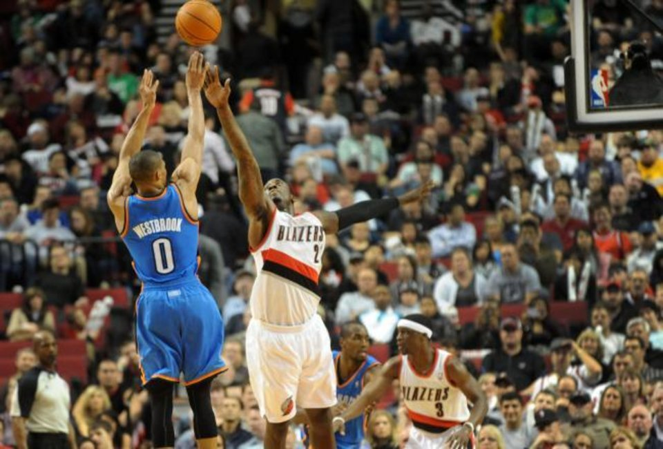 Oklahoma City faces Portland in the home opener Friday night / Steve Dykes-US PRESSWIRE