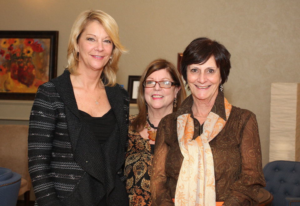 Miki Farris, Sharon Boecking, Nancy Rowntree. PHOTO BY DAVID FAYTINGER, FOR THE OKLAHOMAN <strong></strong>