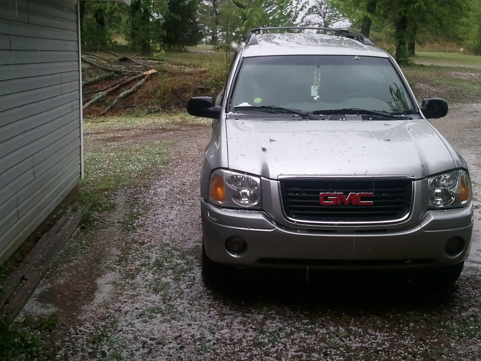 Hail in Newcastle,  OK right now.