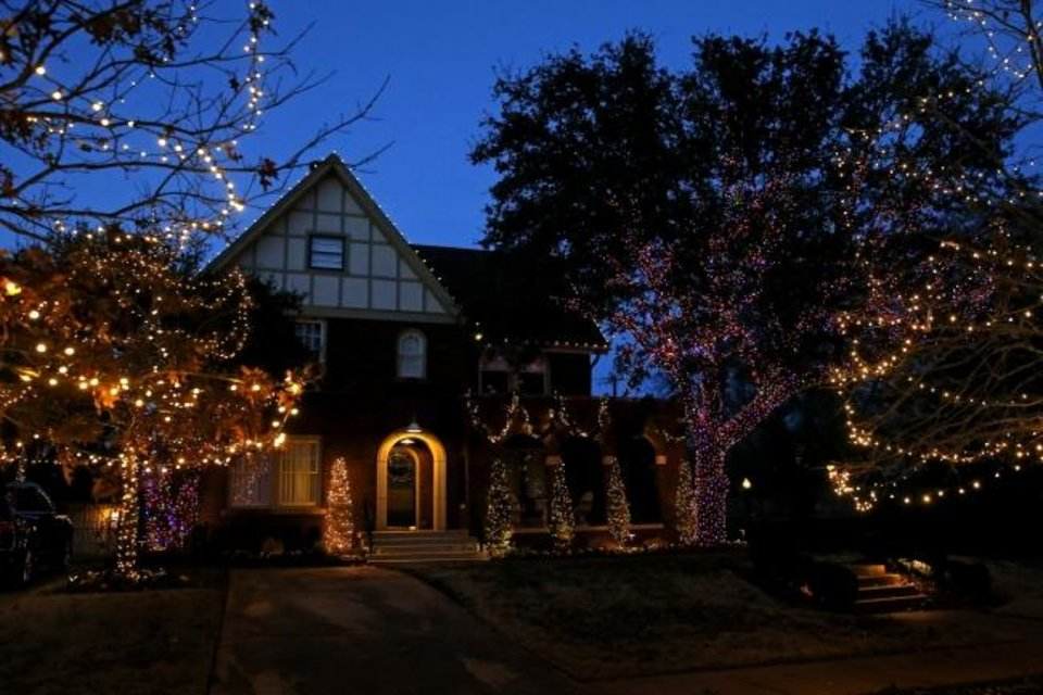 Photo -  A decked-out home at 501 NW 18. [BRYAN TERRY/THE OKLAHOMAN]