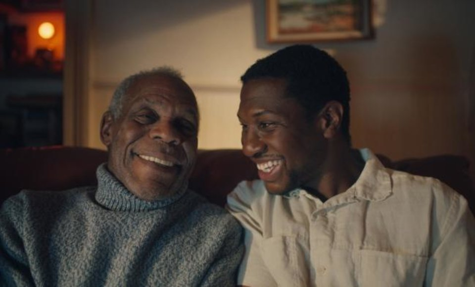 Photo -  Danny Glover, left, with Jonathan Majors in