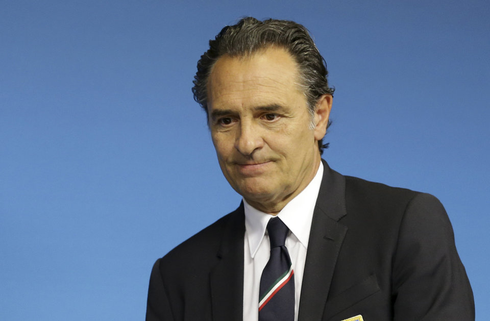 Photo - Italy's coach Cesare Prandelli arrives for a press conference at Arena Pernambuco stadium in Recife, Brazil, Thursday, June 19, 2014. Italy plays in group D at the soccer World Cup. (AP Photo/Antonio Calanni)