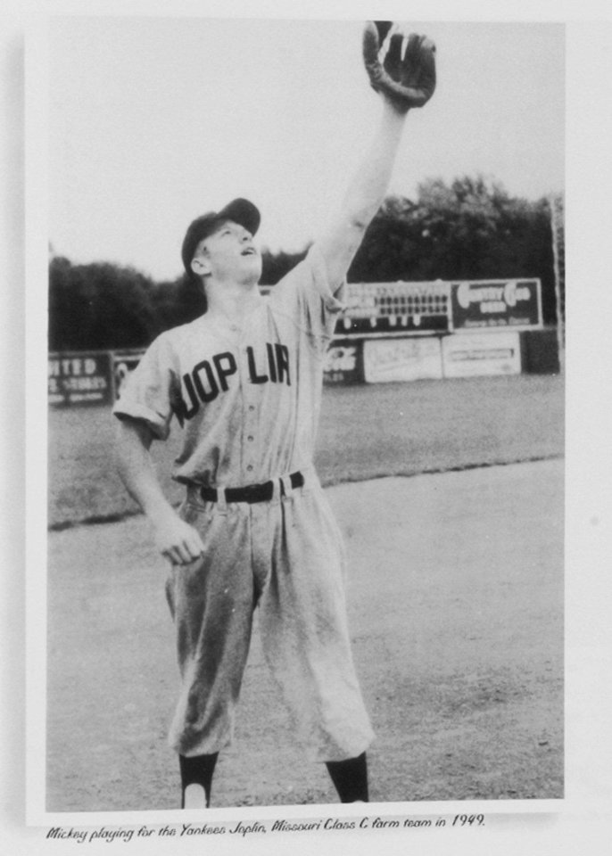 Photo - A 17-year-old Mickey Mantle played shortstop for the New York Yankees farm team in Joplin (Mo.) in the summer of 1949.