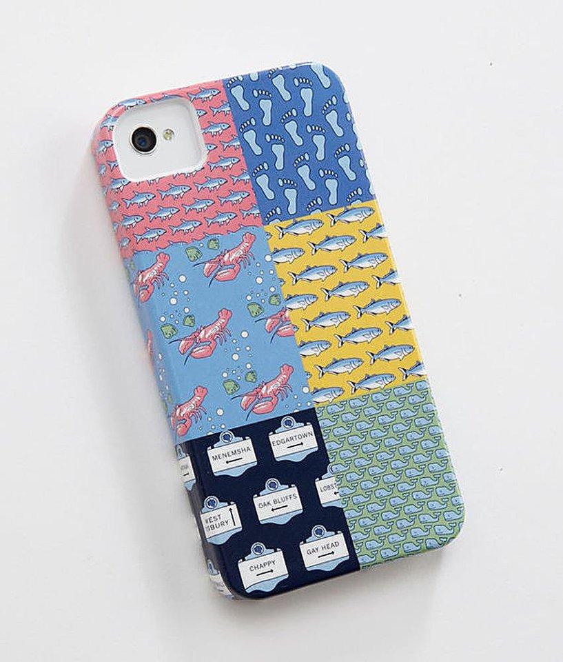 Photo - A few chic ways to accessorize this Fourth of July include this Patchwork iPhone Case $38.00, from vineyard vines. (Courtesy Vineyardvines.com via Los Angeles/MCT)