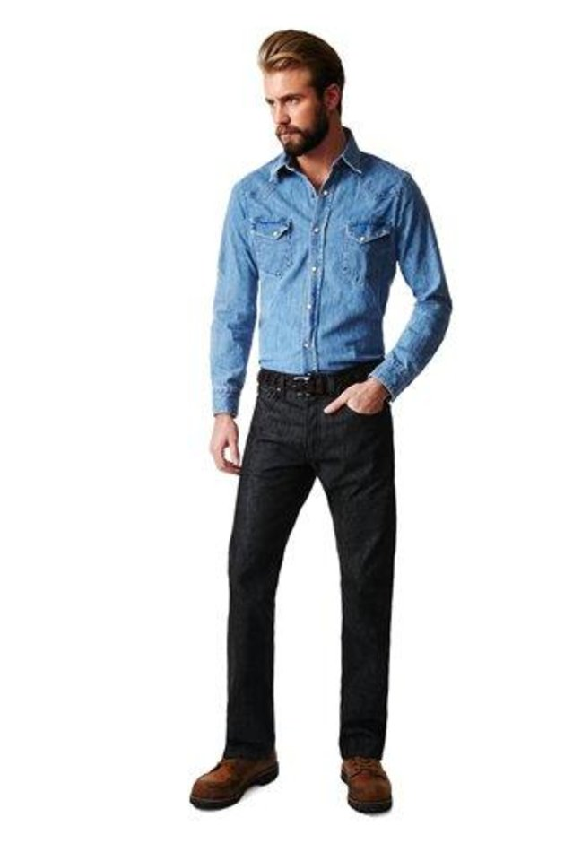In this undated image released by Park & Bond, a model is shown wearing denim. Fashion insiders say men are taking a keen interest in how they dress _ and that means developing their own shopping habits. You now see men dressing for the life they want to lead and image they want to project, agrees Eric Jennings, vice president and fashion director of menswear for Saks Fifth Avenue. Shopping and, even worse, trying things on to ensure a proper fit are necessary evils to get there.  (AP Photo/www.parkandbond.com)