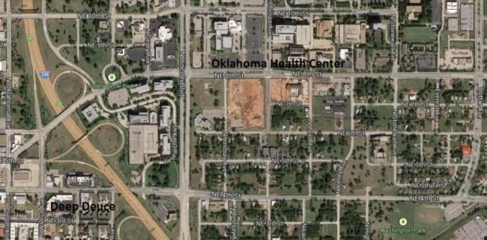 Photo -  Location, location, location. The old Page Woodson school is ideally located within walking distance of Deep Deuce, Bricktown and the Oklahoma Health Center.