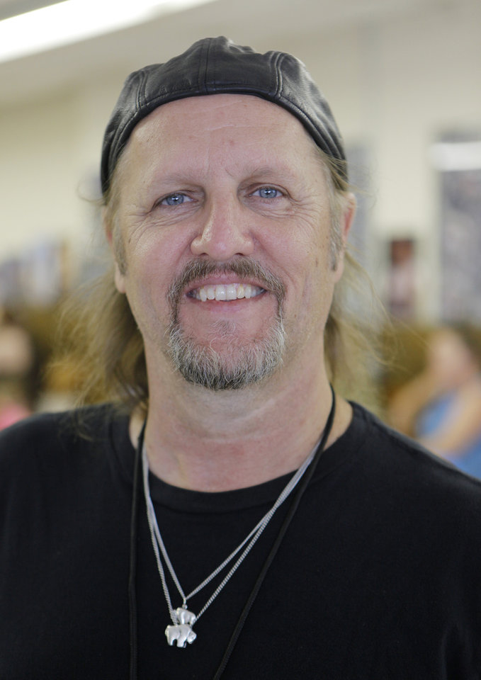 Photo - Jimmy LaFave during the Woody Guthrie Folk Festival in Okemah, Okla., Thursday, July 12, 2012.  Photo by Garett Fisbeck, The Oklahoman