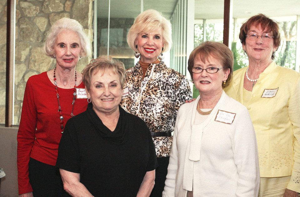 Photo - Carol Welsh, Jo Fudge, Joy Richardson, DeDe  Douglas, Salli White.  Photo by David Faytinger, for The Oklahoman